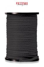 Corde bondage x 60 m : 60 m de Corde noire Fetish Fantasy pour vos jeux de  bondage .