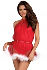 Robe body 2 en 1 mère Noël Santastic Obsessive