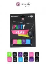 Jeu 5 dés Party Play : Un jeu de dés érotique pour jouer de 2 à ... autant de joueurs que vous voulez ! Multilingue français, anglais, espagnol, portugais.