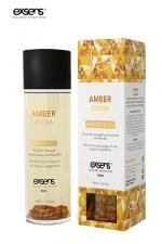 Huile massage BIO Ambre Jojoba - Exsens : huile de massage harmonisante certifiée Bio à l'Ambre et au Jojoba, par Exsens.
