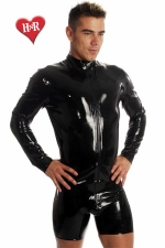 Veste Zip Jacket latex : Veste homme moulante en latex haute qualité.
